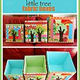 J052 Little Tree Fabric Boxes