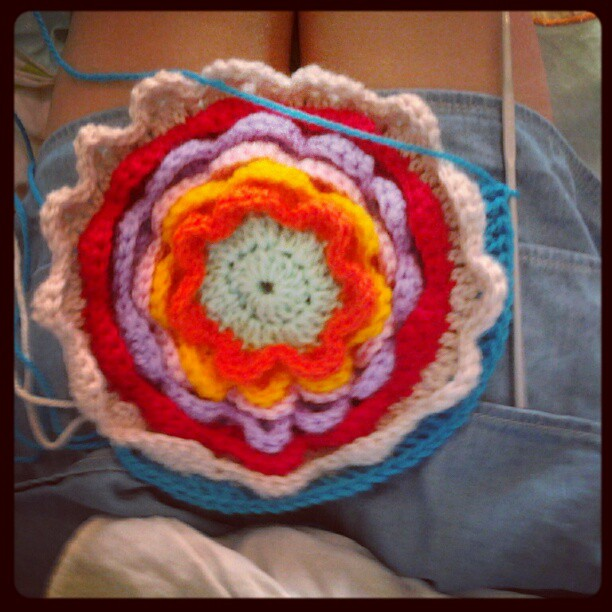 Progress shot 2 blooming flower cushion emily wind