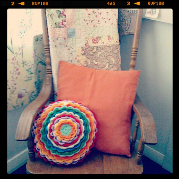 Blooming flower cushion finished emily wind #1