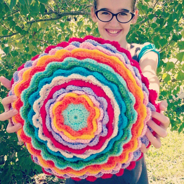 Blooming flower cushion finished emily wind #5