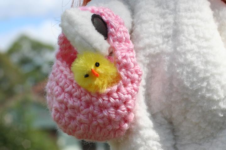 Easter basket close up