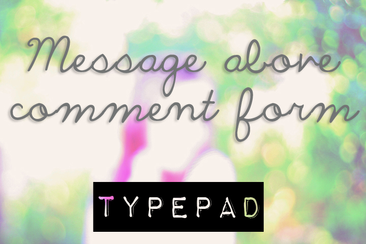 Message above comment form typead