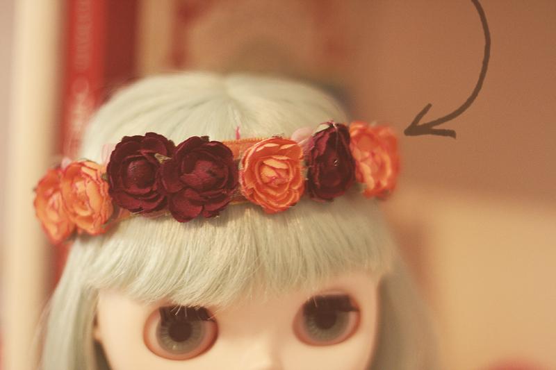 Diy blythe flower crown 3