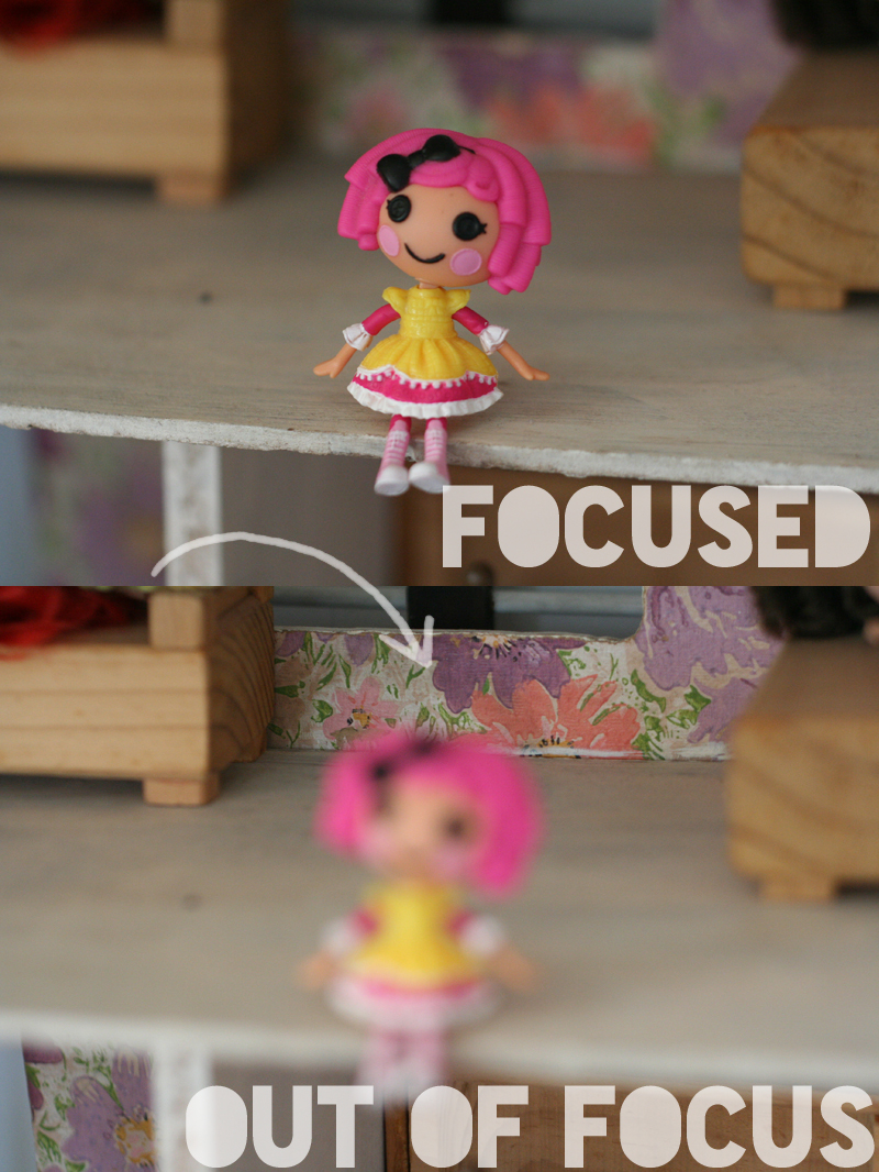 Focused vs out of focus