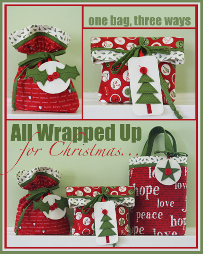 All Wrapped up for Christmas pattern cover PROMO
