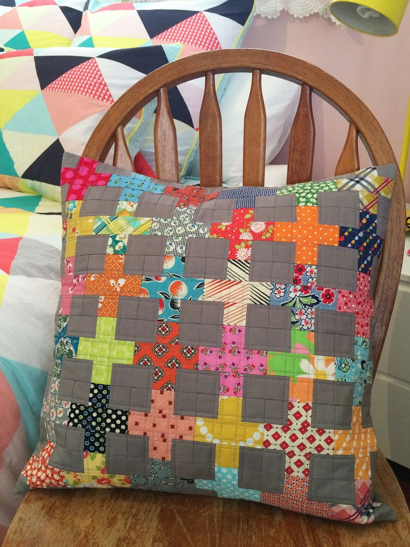 Mardi's finished cushion